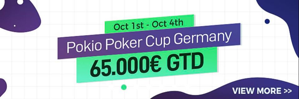 POKIO POKER CUP GERMANY OCT 1ST – OCT 4TH 2020